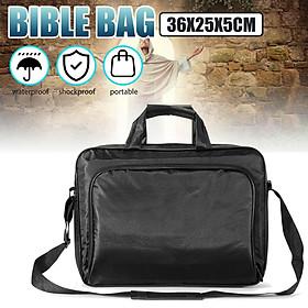 Multifunctional Adjustable Black Portable Bible Bag