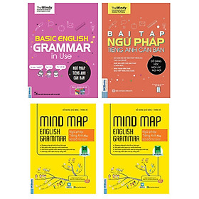 Combo Basic English Gramma In Use: Ngữ Pháp Tiếng Anh Căn Bản (Phiên Bản Chibi)+Mindmap English Grammar - Ngữ Pháp Tiếng Anh Bằng Sơ Đồ Tư Duy+Bài Tập Ngữ Pháp Tiếng Anh Căn Bản