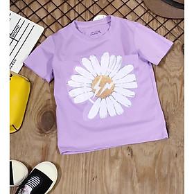 Áo thun hoa cúc bé gái size 2-15