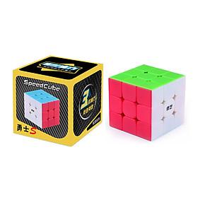 Rubik 3x3 QiYi Warrior S Stickerless Rubic 3 Tầng Không Viền