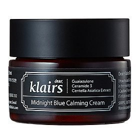 Kem Dưỡng Da Dear Klairs Midnight Blue Calming Cream 30ml