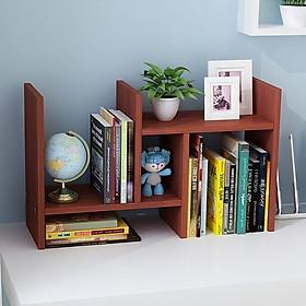 Kệ gỗ để bàn đựng sách, tài liệu lắp ghép linh hoạt - màu ngẫu nhiên