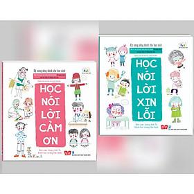 Combo Kỹ Năng Sống Dành Cho Học Sinh: Học Nói Lời Cảm Ơn + Học Nói Lời Xin Lỗi (Tặng kèm bookmark thiết kế)