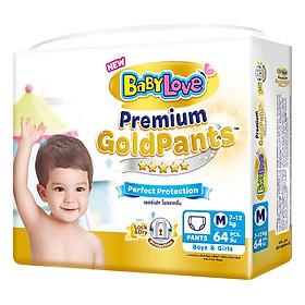 Tã Quần BabyLove Premium Gold M64 (Gói 64 Miếng)