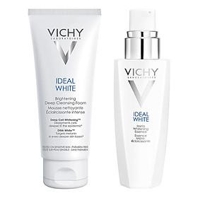 Bộ chăm sóc da Tinh Chất Dưỡng Trắng Sâu Và Giảm Thâm Nám 7 Tác Dụng Vichy Ideal White Meta Whitening Essence (30ml) + Sữa Rửa Mặt Tạo Bọt Dưỡng Trắng Da Vichy Ideal White Brightening Deep Cleansing Foam (100ml)