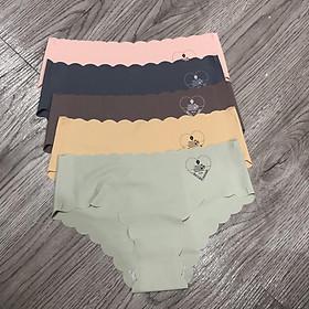 Combo 5 quần lót nữ su 561 mẫu trơn in chữ chìm hình trái tim nhiều màu co dãn đàn hồi tốt thấm hút mồ hôi phù hợp mọi lứa tuổi thoải mái khi mặc - giao màu ngẫu nhiên