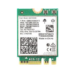 Card WIFI Intel WIFI 6E AX210 sử dụng cho laptop hỗ trợ 3 băng tần tích hợp Bluetooth 5.2 - Hàng nhập khẩu