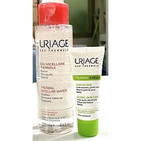 Combo Nước Tẩy Trang Uriage 250ml Và Kem Dưỡng Giảm Mụn Uriage Hyseac 3-Regul Soin Global