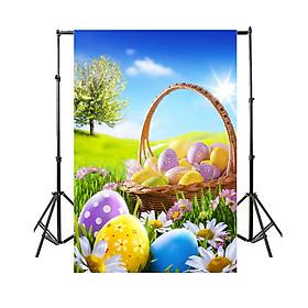 Phông Nền Trứng Và Đồng Cỏ Chụp Ảnh Lễ Phục Sinh