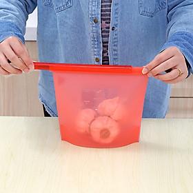 Túi silicon đựng, bảo quản thực phẩm có dây kéo trượt bọc miệng túi - Giao Màu Ngẫu Nhiên