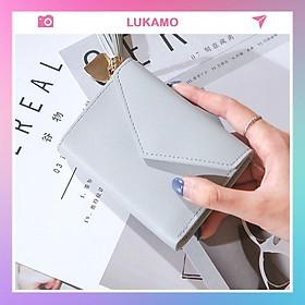 Ví nữ nhỏ nhiều ngăn cầm tay mini gấp 3 thời trang cute dễ thương giá rẻ LUKAMO VD70