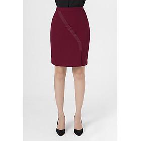 Chân váy ôm diễu chỉ LAMER L62F19Q004-S2400  (Đỏ)