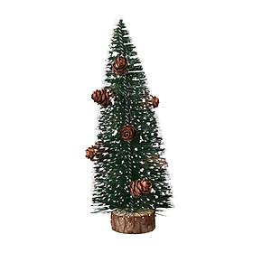 Siaonvr Mini Pine Needle Christmas Tree Party Decoration Flocking Sticky White Snow Tree