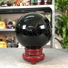 Quả cầu phong thủy đá Obsidian đen Roxi 2A