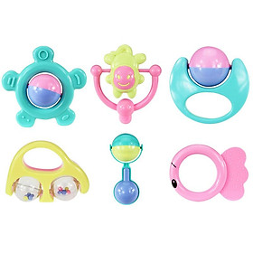 6 pieces of 10 or 14 pieces of newborn baby bell toy set puzzle early education hand bell style