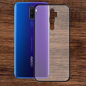 Ốp lưng Oppo A9 2020 - Bề mặt nhám chống vân tay, lưng cứng, viền TPU dẻo - 02129 - Hàng Chính Hãng