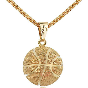 Basketball Necklace Football Necklace Fashion 3D Accessories Gift Unisex