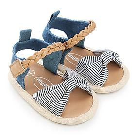 Giày tập đi sandal cho bé 0-18 tháng tuổi quai bện xinh xắn - TD6