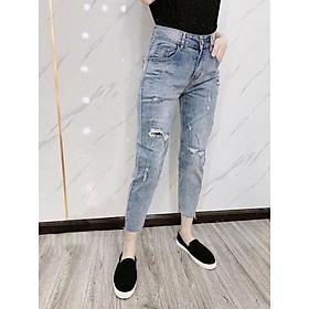Quần jean nữ lưng cao Julido, chất jean cotton co dãn NHẸ FORM BAGGY tôn dáng phụ nữ eo thon mẫu M3041