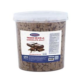 Hạt Thạch Sô cô la Châu Lương (3.2kg/hộp) - Topping cho trà sữa, trà trái cây, trà thạch đào, trái cây tô, yogurt…