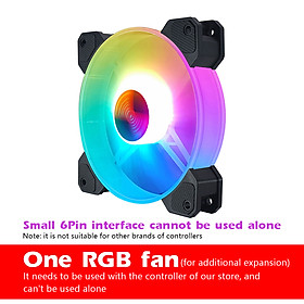 RGB Crate Fan 120mm Desktop Computer Cooling Fan Illusion Discoloration Solar Eclipse Silence Fan Color Computer Crate