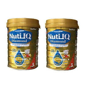 Bộ 2 Lon Sữa bột NUTI IQ Diamond số 3 cho trẻ từ 1-2 tuổi - 900g