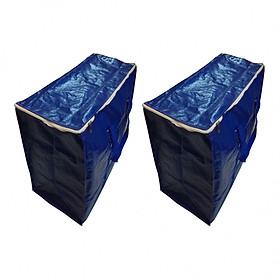 Size lớn - Combo 2 túi bạt đựng hàng hóa, quần áo, chăn màn (kích thước 75 x 36 x 56 cm) - quai màu ngẫu nhiên