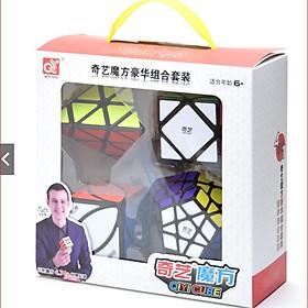 Combo Rubik QiYi Gift Box #3 Black