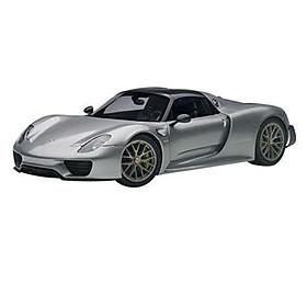 Xe Mô Hình Porsche 918 Spyder Weissach Package 1:18 Autoart - 77925 (Bạc)