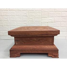 Đôn kê tượng gỗ Hương đỏ ( gỗ hương xịn vân gỗ đẹp)