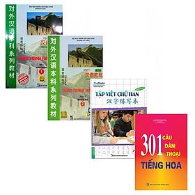 Bộ Giáo Trình Hán Ngữ tập 1+Tập Viết Chữ Hán+ 301 Câu Đàm Thoại Tiếng Hoa Tặng Kèm Video 6000 từ vựng tiếng Trung thông dụng qua hình ảnh