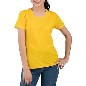 Áo Thun Nữ Trơn Màu Vàng T&D (Free Size)