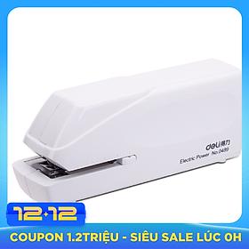 (Deli) 0489 Electric Stapler Electronic Automatic Stapler Stapler (24 / 6,26 / 6) White