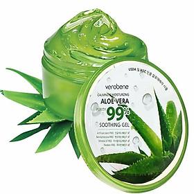 Gel lô hội dưỡng ẩm cấp nước cho da Verobene 99% Smothing Gel 300ml Kèm nơ