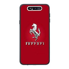 Ốp lưng dành cho điện thoại Samsung Galaxy A80 in họa tiết Logo F E R R A R I