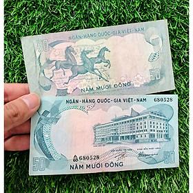 Tờ tiền mã đáo thành công 50 đồng Việt xưa, quà tặng phong thủy kèm bao lì xì - The Merrick Mint