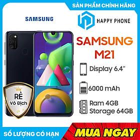 Điện thoại Samsung Galaxy M21 (4GB/64GB) - Hàng chính hãng - Đã kích hoạt bảo hành điện tử