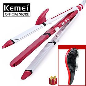 Máy làm tóc 3in1 chuyên dụng KEMEI KM-3304 điều chỉnh 5 mức nhiệt độ thích hợp sử dụng với mọi loại tóc, có thể duỗi tóc là tóc uốn tóc, dập xù, bấm tóc