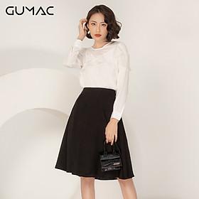 Áo sơ mi kiểu nữ đẹp hàng hiệu GUMAC thiết kếkiểu rã phối bèo AA922