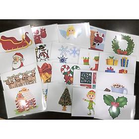 Christmas flashcard - Thẻ học tiếng Anh chủ đề Noel Giáng Sinh (20 thẻ)