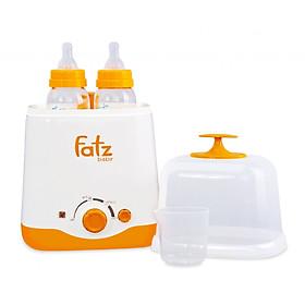 Máy Hâm Sữa FB3012SL Hai Bình Cổ Rộng FatzBaby - Tặng kèm áo hút sữa rãnh tay có dây đeo và 05 túi trữ sữa