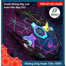 Chuột Không Dây Gaming Led Siêu Đẹp XSmart Free Wolf X13 Premium Pin Sạc Dùng Siêu Trâu Cho Máy Tính, Laptop, Tivi - Hàng Chính Hãng