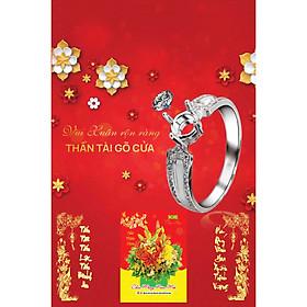 In Lịch Gỗ Tết Treo Tường Laminate 2021 Dành Cho Tiệm Vàng - Vui Xuân Rộn Ràng, Thần Tài Gõ Cửa (40 Cm x 60 Cm)
