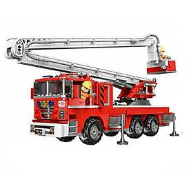 Lắp ráp mô hình xe cứu hoả màu đỏ