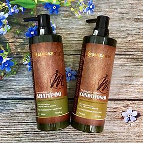 Bộ dầu gội xả phục hồi siêu mượt tóc Masaroni Rich Biotin Collagen repair Shampoo & Conditioner 800ml-1