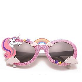 Mắt kính mát cho bé hình Unicorn màu hồng