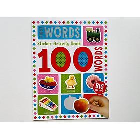 100 First Words Sticker Activity Book - Miếng Chủ Đề 100 Từ Vựng Đầu Tiên Cho Bé.