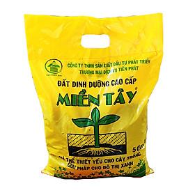 Đất trồng cây - Đất dinh dưỡng hữu cơ trồng cây đa dụng - Đất sạch cao cấpTiến Phát Miền Tây (5 dm3 )