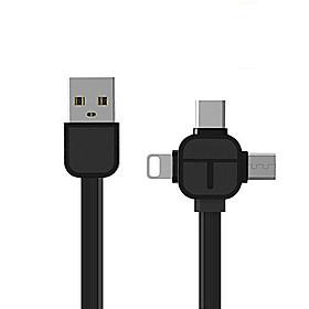 Cáp Sạc Đa Năng Xoay 3 Đầu Lightning - Micro USB- Type C Dây Dài 1M - Màu Giao Ngẫu Nhiên