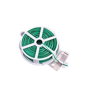 Cuộn dây buộc đồ, buộc cây cảnh đa năng 50m (Dây nhựa, lõi kẽm)- Cuộn dây kẽm bọc nhựa dùng để buộc cây cảnh, hoa lan